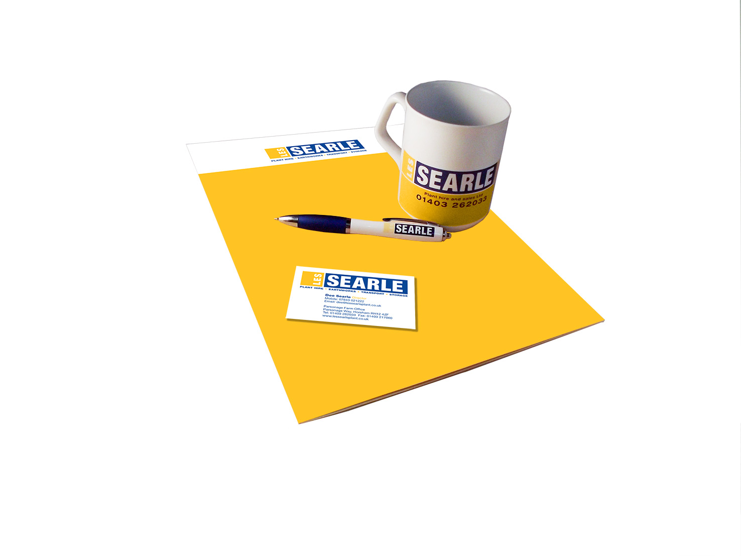 Les Searle mug and stationery